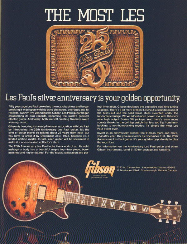Gibson advertisement (1978) The Most Les