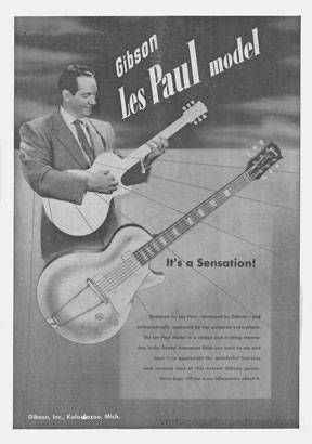 Les Paul, in an advertisement from 1953