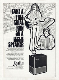 Leslie 825 - Take  a Free Trial Run on a Leslie Speaker