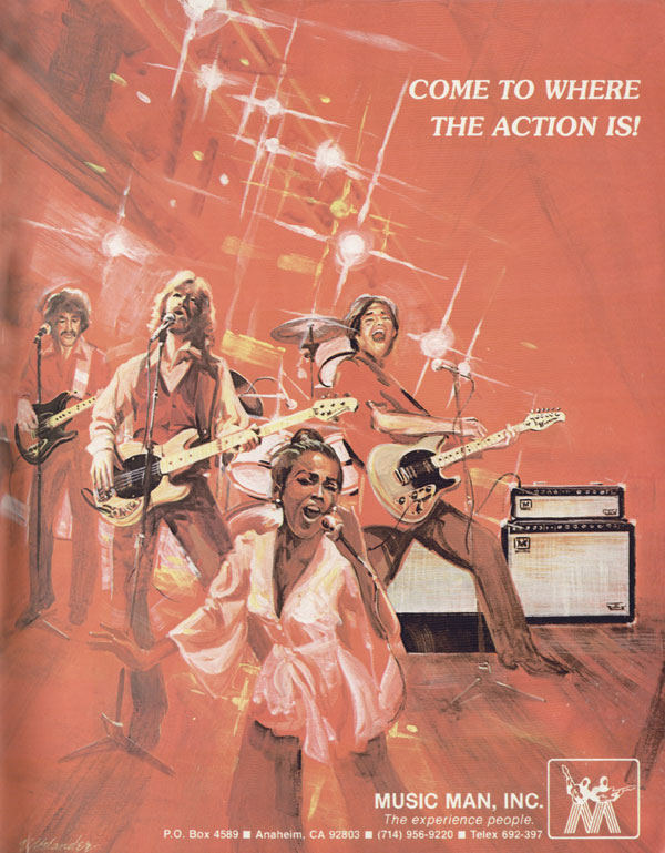 Music Man advertisement (1979) Come To Where The Action Is