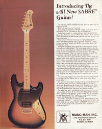 Music Man Sabre - Introducing The All New Sabre Guitar