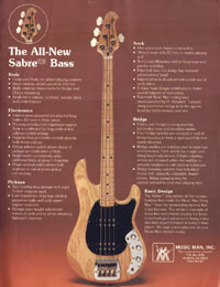 Music Man Sabre - The All New Sabre Bass