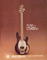Music Man Stingray - At Last You Have A Choice