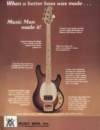 Music Man Stingray - When A Better Bass Was Made... Music Man Made It
