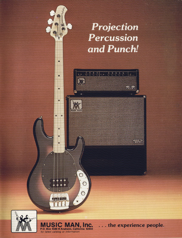Music Man advertisement (1977) Projection Percusion And Punch!