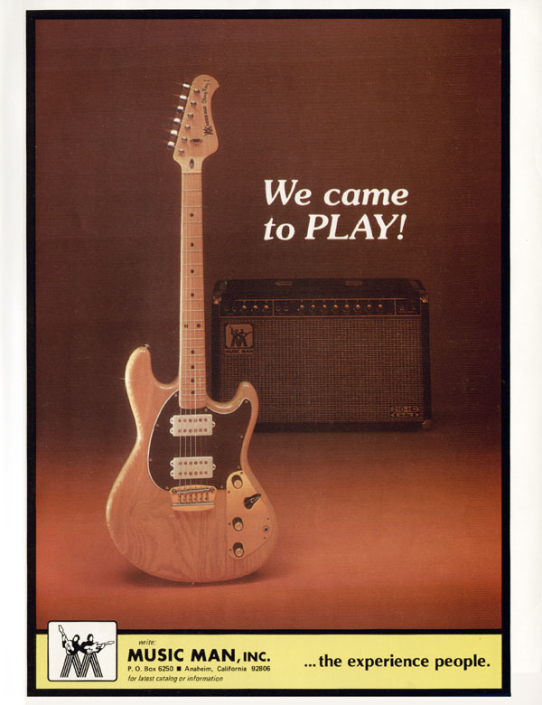 Music Man advertisement (1976) We Came To Play