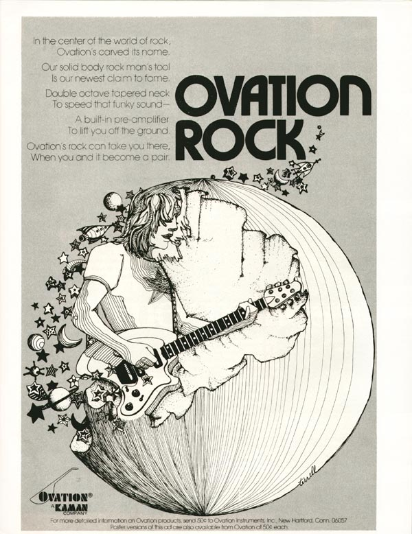 Ovation advertisement (1974) Ovation Rock