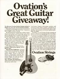 Ovations great guitar giveaway