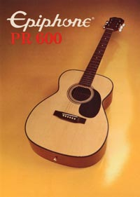1982 Epiphone Presentation Series PR600 acoustic (Japan)
