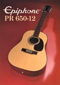 1982 Epiphone Presentation Series PR650-12 twelve string acoustic (Japan)