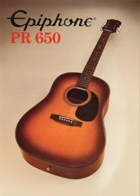 1982 Epiphone Presentation Series PR650 acoustic (Japan)