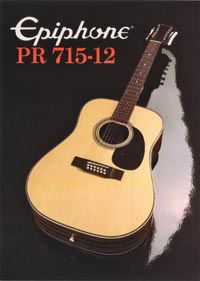 1982 Epiphone Presentation Series PR715-12 twelve string acoustic (Japan)