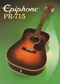 1982 Epiphone Presentation Series PR715 acoustic (Japan)