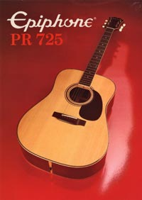 1982 Epiphone Presentation Series PR725 acoustic (Japan)