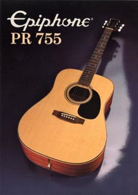 1982 Epiphone Presentation Series PR755 acoustic (Japan)