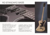 1978 Gibson RD guitar and bass catalogue page 7