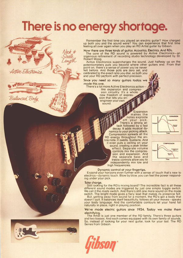 Gibson advertisement (1979) There Is No Energy Shortage