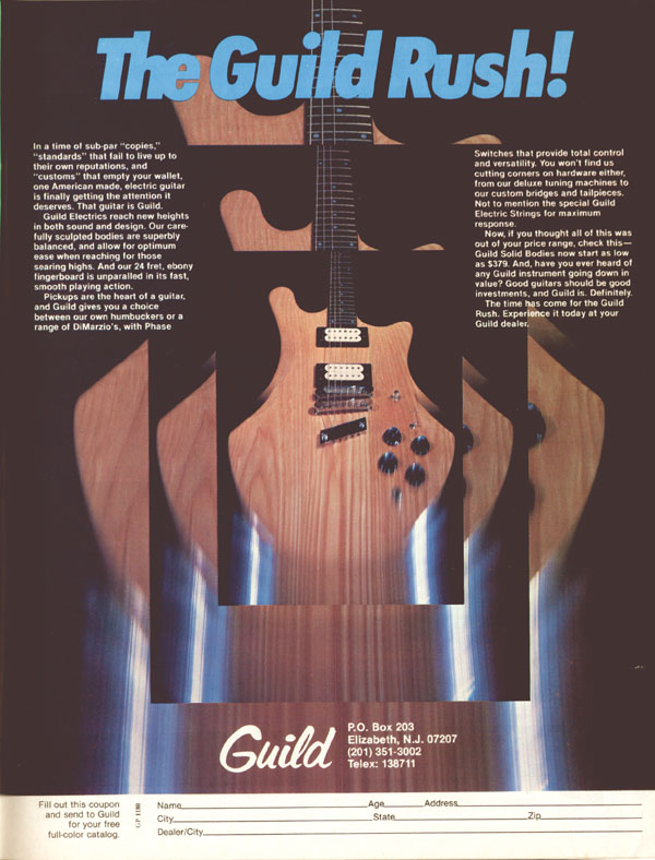 Guild advertisement (1980) The Guild Rush