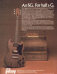 1979 Gibson advert for The SG