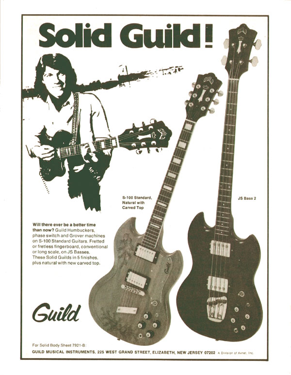 Guild advertisement (1974) Solid Guild