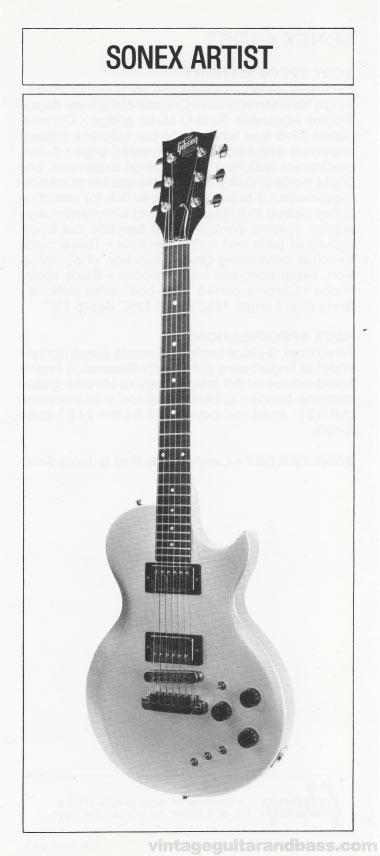 1981 Gibson Sonex pre-owners manual insert 3 - Sonex Artist image