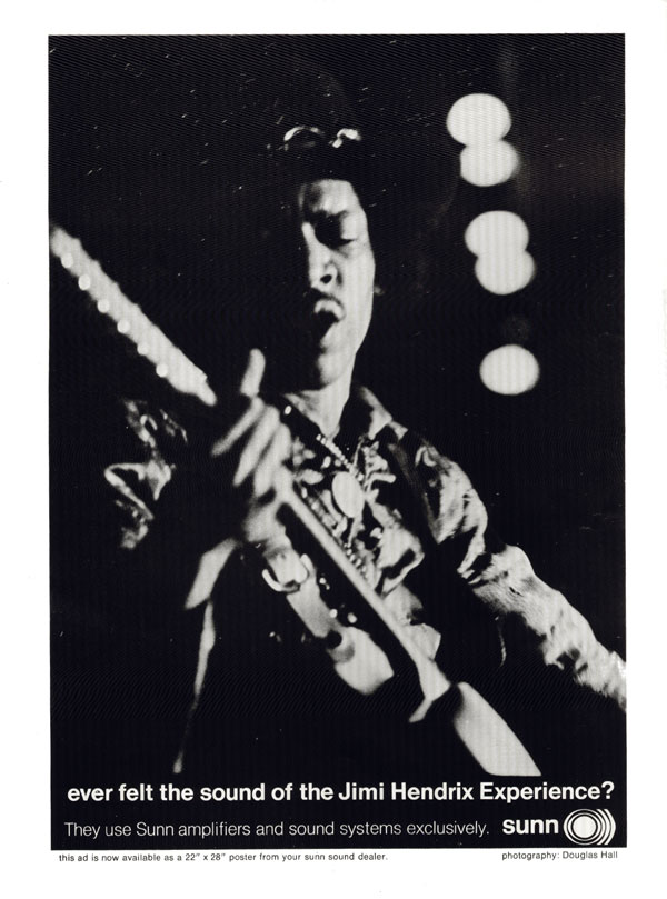 Sunn advertisement (1968) Ever felt the sound of the Jimi Hendrix Experience?