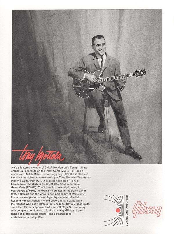 Gibson advertisement (1965) Tony Mottola