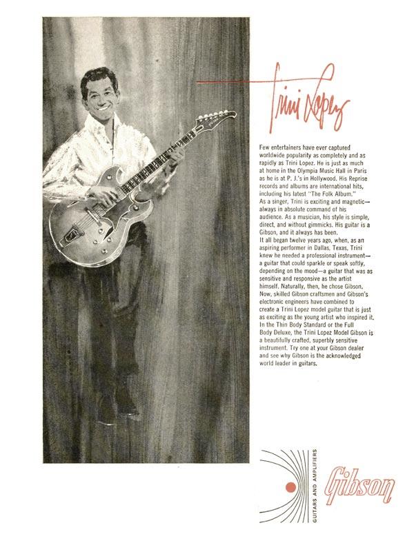 Gibson advertisement (1965) Trini Lopez