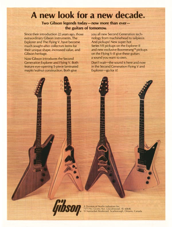 Gibson advertisement (1980) A New Look for a New Decade