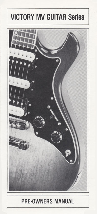 1981 Gibson Victory MV guitar pre-owners manual page 1
