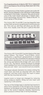 1981 Gibson Victory MV guitar owners manual page 3
