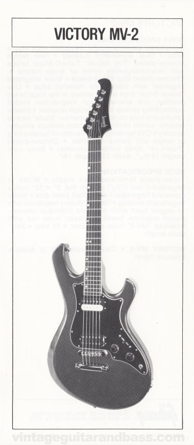 1981 Gibson Victory MV guitar owners manual page 4