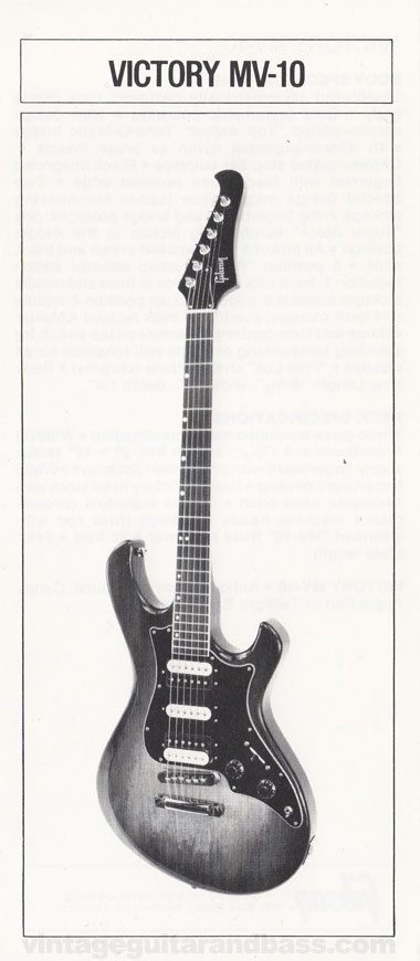 1981 Gibson Victory MV guitar owners manual page 6