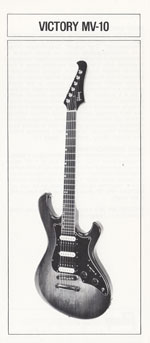1981 Gibson Victory MV guitar owners manual page 6 - Victory MVX