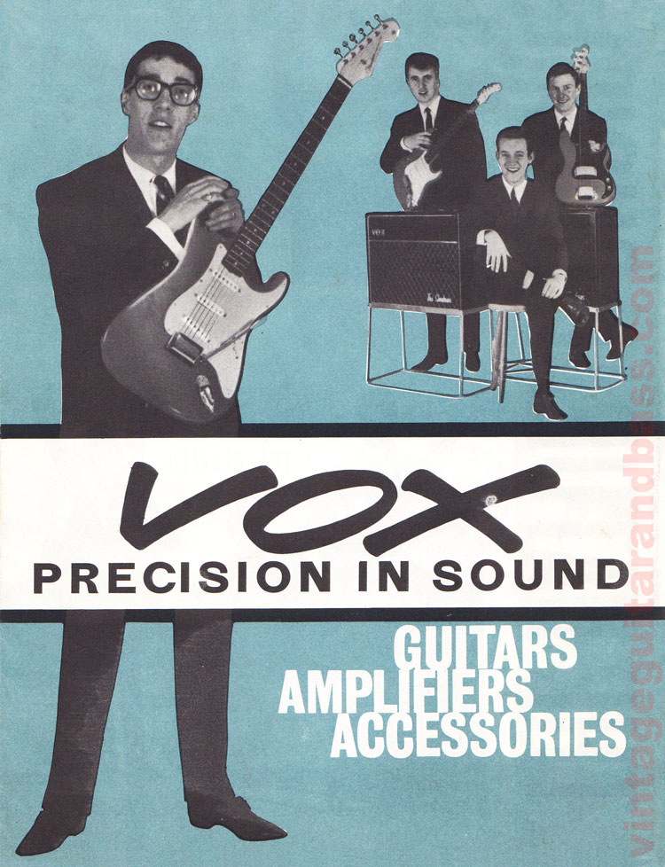 1963 Vox Precision in Sound catalogue front cover