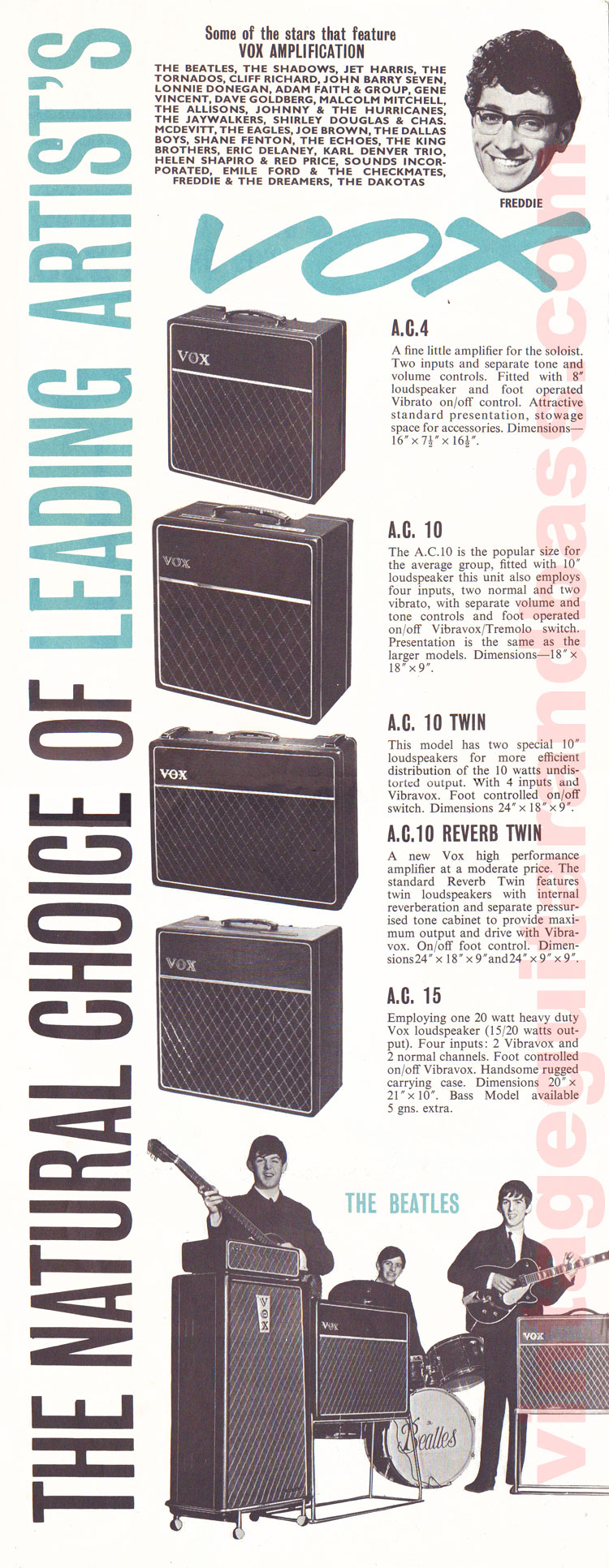 1963 Vox Precision in Sound catalogue