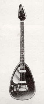 "Vox Phantom bass mark III - from the Vox ""precision in sound"" catalogue, 1964"