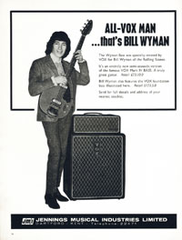 Vox Wyman Bass - ALL-VOX MAN... thats BILL WYMAN