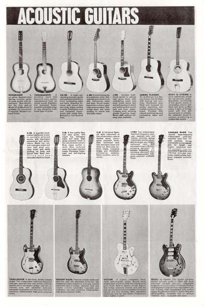 1964 Vox Precision in Sound catalogue page 5