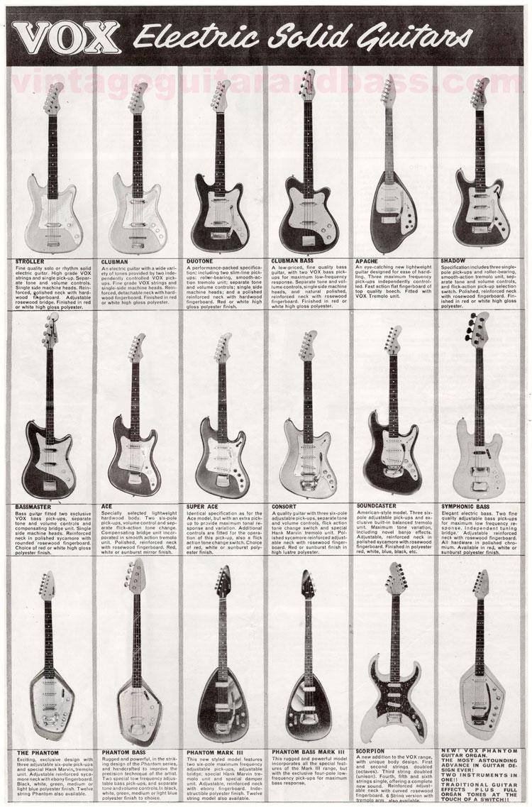 1964 Vox Precision in Sound catalogue front cover