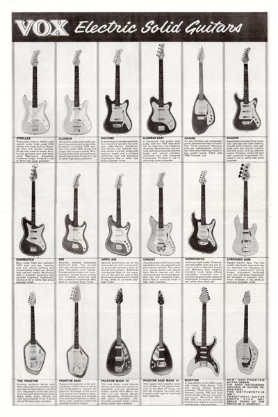 1964 Vox Precision in Sound catalogue page 4