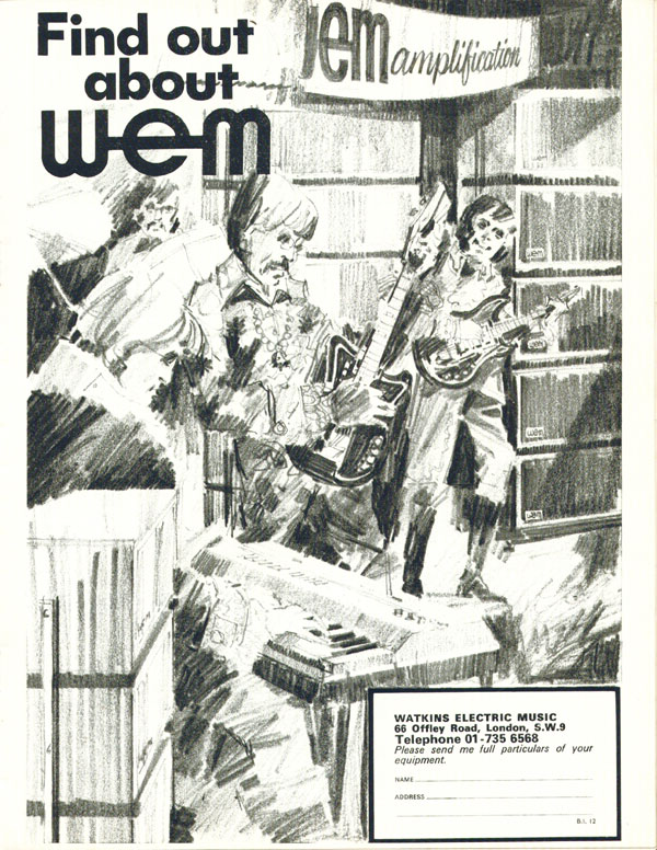 WEM advertisement (1967) Find Out About WEM