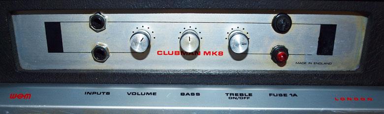 WEM Clubman MK8 controls