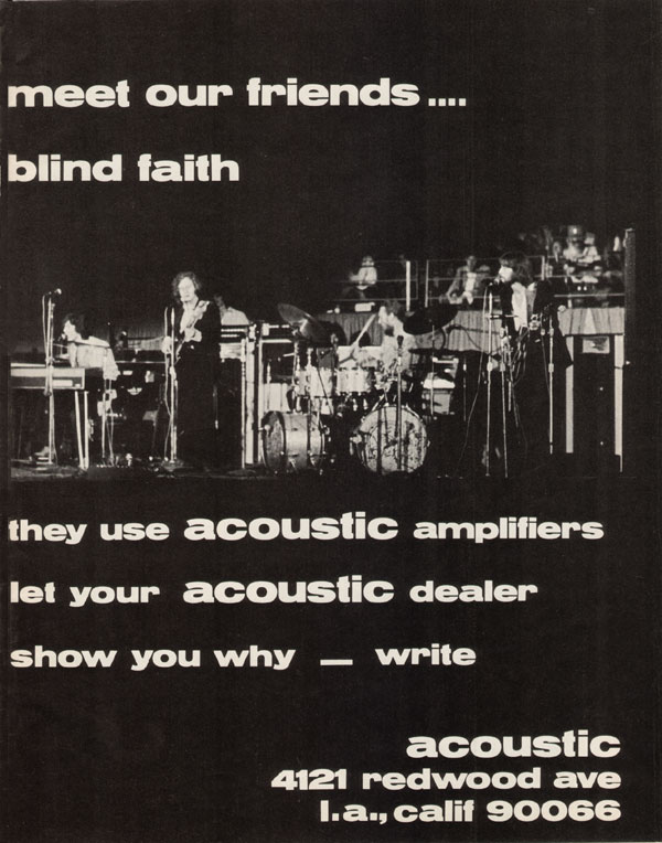 Acoustic advertisement (1969) Meet Our Friends - Blind Faith