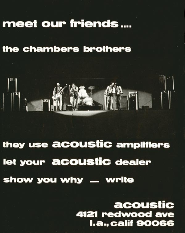 Acoustic advertisement (1969) Meet Our Friends.... The Chambers Brothers