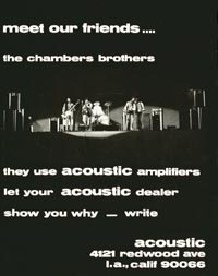 Acoustic Amplifiers - Meet Our Friends.... The Chambers Brothers