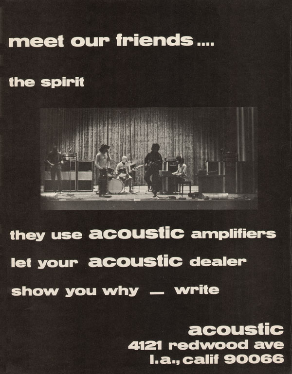 Acoustic advertisement (1969) Meet Our Friends - The Spirit