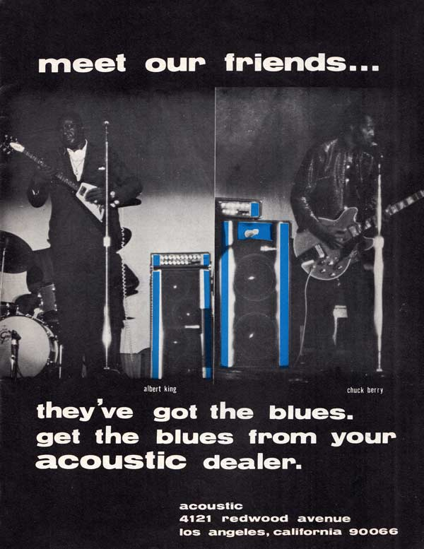 Acoustic advertisement (1969) Meet Our Friends - Albert King and Chuck Berry