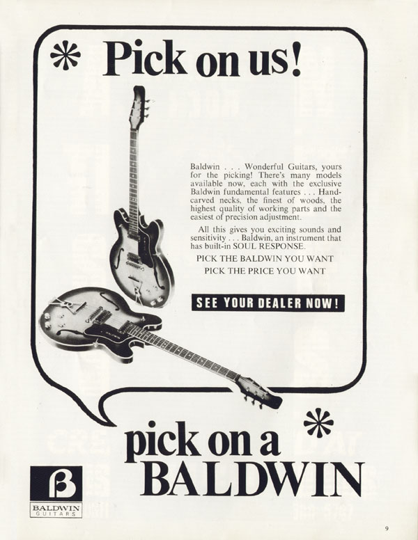 Baldwin advertisement (1971) Pick On Us! Pick On A Baldwin