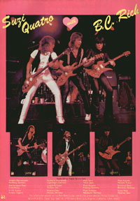 BC Rich Guitars - Suzi Quatro With BC Rich